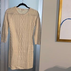 NWT cream sweater dress, great with booties